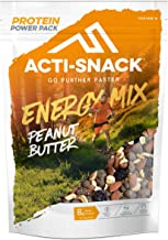 ACTI-SNACK Peanut Butter Energy Trail Mix Powerpack Sports Nutrition Snacks Dark Chocolate Peanut Butter Peanuts Roasted Almonds Sour Cherries High in Plant Protein Vegan 12 x 175g