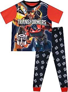 Transformers Pijamas de Manga Corta para niños Bumblebee Optimus Prime