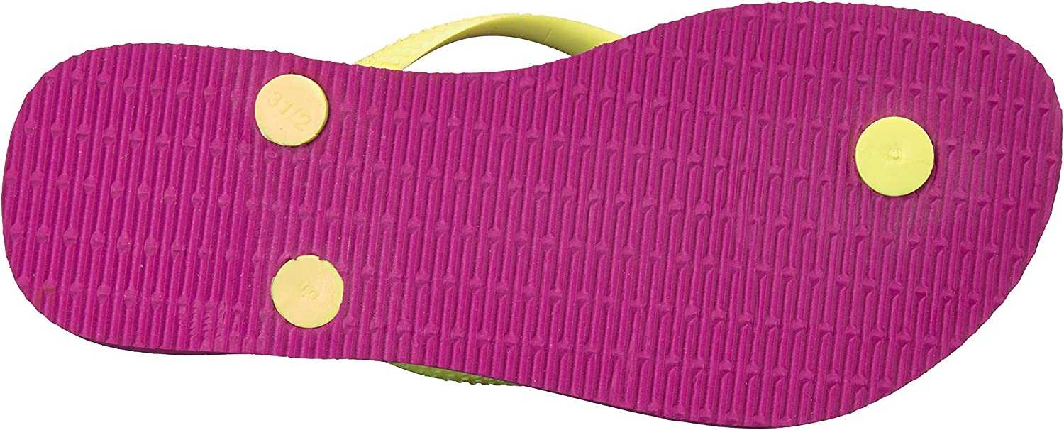 Havaianas Girls Slim Flip Flop Sandals Logo Pop Up, Toddler//Little Kid