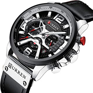 Men Sport Analog Quartz Causal Watch Chronograph...