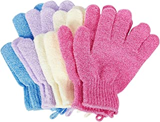 OUNONA 2pcs ducha exfoliante gafas de ba/ño Nylon ducha guantes cuerpo exfoliante corporal para hombres mujeres ni/ños verde