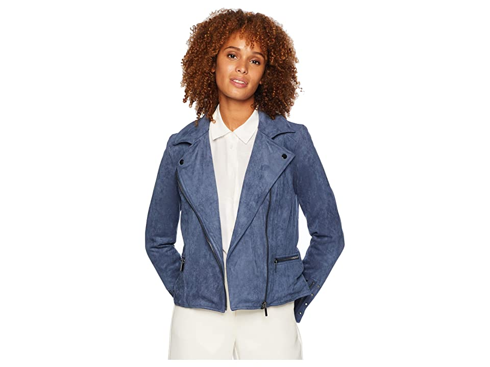 Vintage Coats & Jackets | Retro Coats and Jackets KUT from the Kloth Eveline Jacket Slate Blue Womens Coat $118.00 AT vintagedancer.com