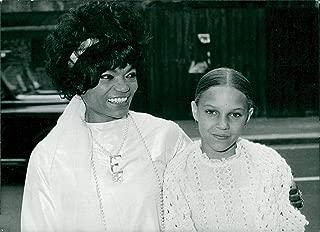 Vintage photo of Eartha Kitt and her daughter Kitt