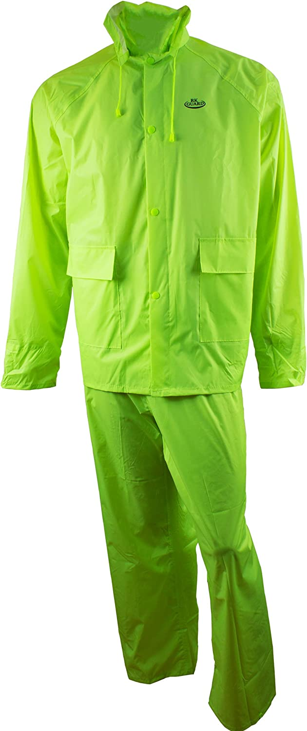 RK Safety Rain Wear RW-PP-HIG33 Suit Polyester 3-Piece PVC Easy-to-use Many popular brands
