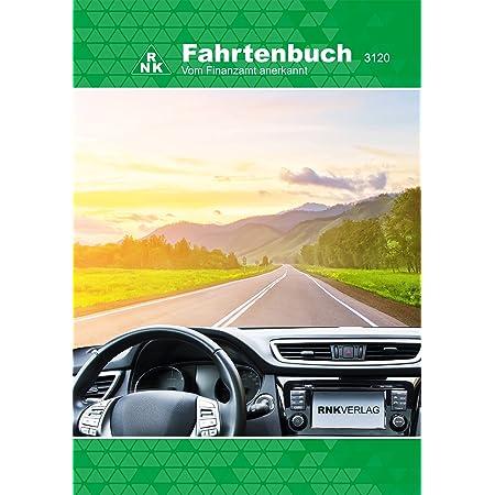 Rnk 3120 Fahrtenbuch Pkw Steuerlicher Kilometernachweis Din A5 32 Blatt Bürobedarf Schreibwaren