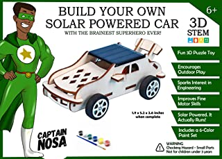 Captain Nosa Build Your Own Solar Powered Car | 3D STEM Puzzle Toy