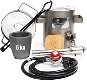 Cast Master USA 5KG SS Propane Furnace DELUXE 2700F 1500C Jewelry Kit INCLUDES, CRUCIBLE, TONGS Kiln Smelting Forge Precious Metals Gold Silver Copper Scrap Metal Recycle