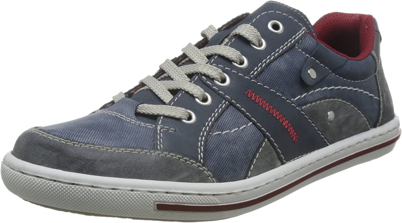 Rieker Men Lace-Up shoes bluee, (rauch jeans denim) 19013-47