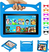 Amazon Fire 8 Tablet Case - Auorld Kid-Proof Case with Stand for All New Fire HD 8 Tablet (Compatible with 2018/2017/2016 Release) (Blue)