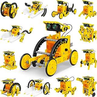 Solar Robot Kit for Kids, STEM 13-in-1 Educational Solar Robot Toys, Educational DIY Assembly Kit Science Building Set Gif...