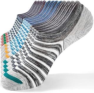 TRENDOUX, 6 Pares de Calcetines Tobilleros Hombre Mujer Invisibles Calcetines Cortos de Algodón Respirable Antideslizantes