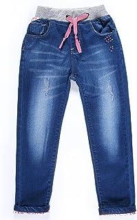 LITTLE-GUEST Little Girls' Jeans Kids Clothes Drawstring Waistband Denim Pants G116