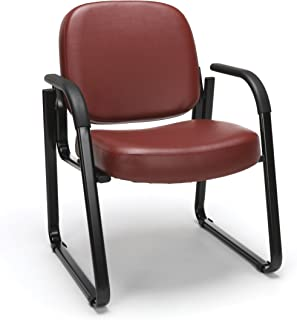 OFM Model 403-VAM Guest and Reception Chair with Arms, Anti-Microbial/Anti-Bacterial Vinyl, Wine