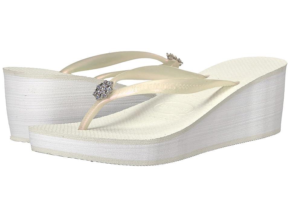 Havaianas High Fashion Poem Flip-Flops (White) Women