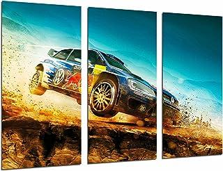 Poster Fotográfico Coche Carreras Rally en Paisaje Desierto Red Bull, Azul Tamaño total: 97 x 62 cm XXL