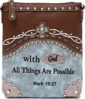leather purses with bible verses