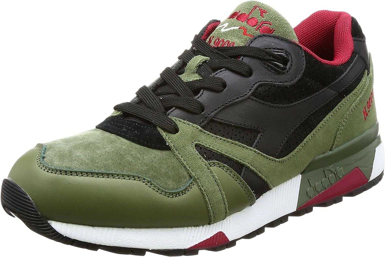 Diadora Schuhe für Herren Turnschuhe N9000 Premium im grünen Stoff 501.172293-01-c7068