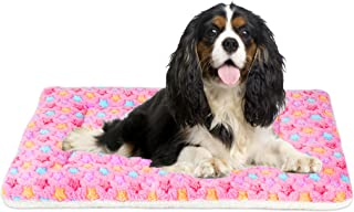 Mora Pets Ultra Soft Pet (Dog/Cat) Bed with Cute Prints   Reversible Fleece Crate Bed Mat   Machine Washable Pet Bed Liner