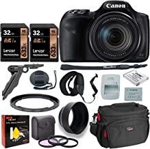 Canon PowerShot SX540 HS Digital Camera + 2X 32GB Memory Card + Camera Bag + Replacement Battery + USB Card Reader + Screen Protectors + Cleaning Kit + Accessories
