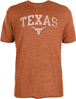 NCAA Texas Longhorns Mens Worn Arch Tri-Blend Short Sleeve Tee, Texas Orange, Large
