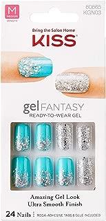 Kiss Gel Fantasy Medium Length Gel Nails KGN03 Painted Veil