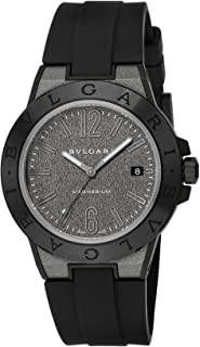 [ブルガリ] 腕時計 ディアゴノマグネシウム グレー文字盤 DG41C14SMCVD メンズ 並行輸入品 ブラック