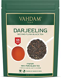 VAHDAM, Darjeeling​ Tea Leaves​ from Himalayas (120+ Cups), 100% Certified Pure Unblended Darjeeling Black Tea, FTGFOP1 Gr...