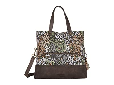 Sakroots Colby Convertible Tote (Slate Spotted Wildlife) Handbags