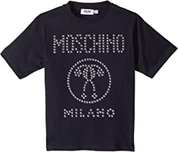 Moschino Kids - Short Sleeve Stud Logo T-Shirt (Little Kids/Big Kids)