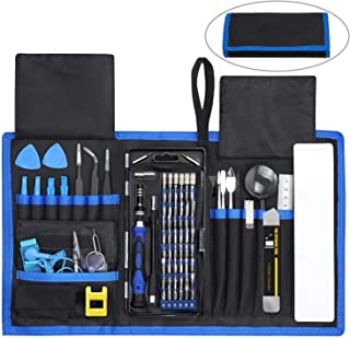 84 in 1 Repair Tools Kit with Magnetic Driver Kit, Apsung Professional Electronics Precision Screwdriver Set with Portable Bag for Repair Computer, Cell Phone, PC, iPhone, MacBook, Laptop etc