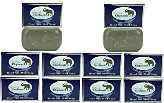 Dead Sea Mud Soap 4.4 oz 10 Pack (10 Soap Bars) by Natural Elephant