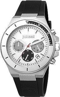 Just Cavalli Sport Men's Silver Dial Silicone Analog Watch - JC1G139P0015