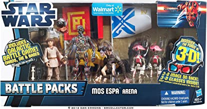 Star Wars 2012 Clone Wars Exclusive Battle Pack Mos Espa Arena C3P0, Anakin S...