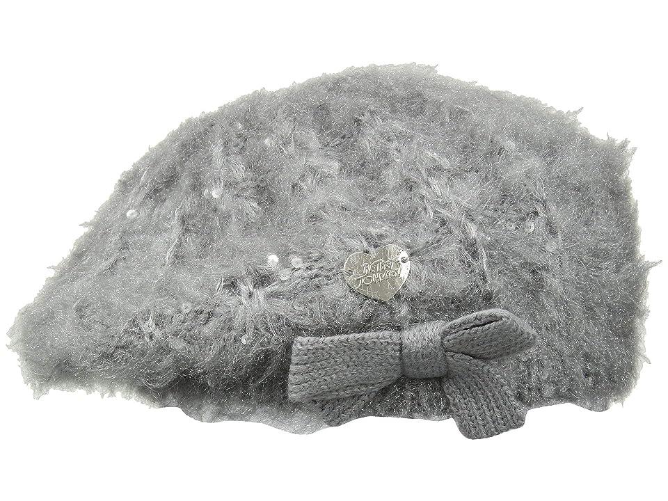 Betsey Johnson Fuzzy Wuzzy Beret (Grey) Knit Hats