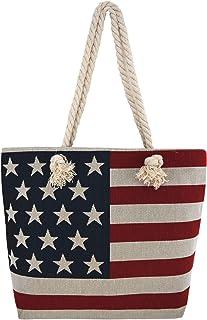 Massachusetts USA Map Stars Stripes Flag Handbag Craft Poker Spade Canvas Bag Shopping Tote