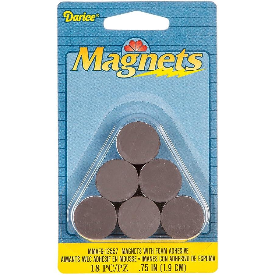 Darice MMAFG-12557 18-Piece Round Magnet with Foam Adhesive