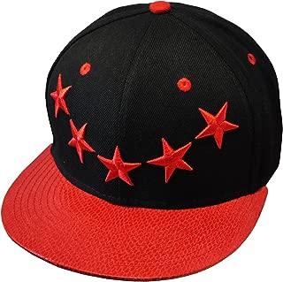 5 Star Galaxy 2-Tone Red & Black Hip Hop Snapback Baseball Cap