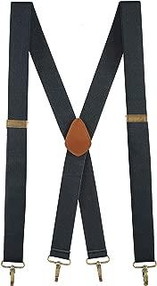 Buyless Fashion Men Suspenders Elastic Adjustable 48