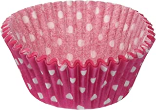 Oasis Supply Baking Cups, Standard, 50-Count, Pink Polka Dot