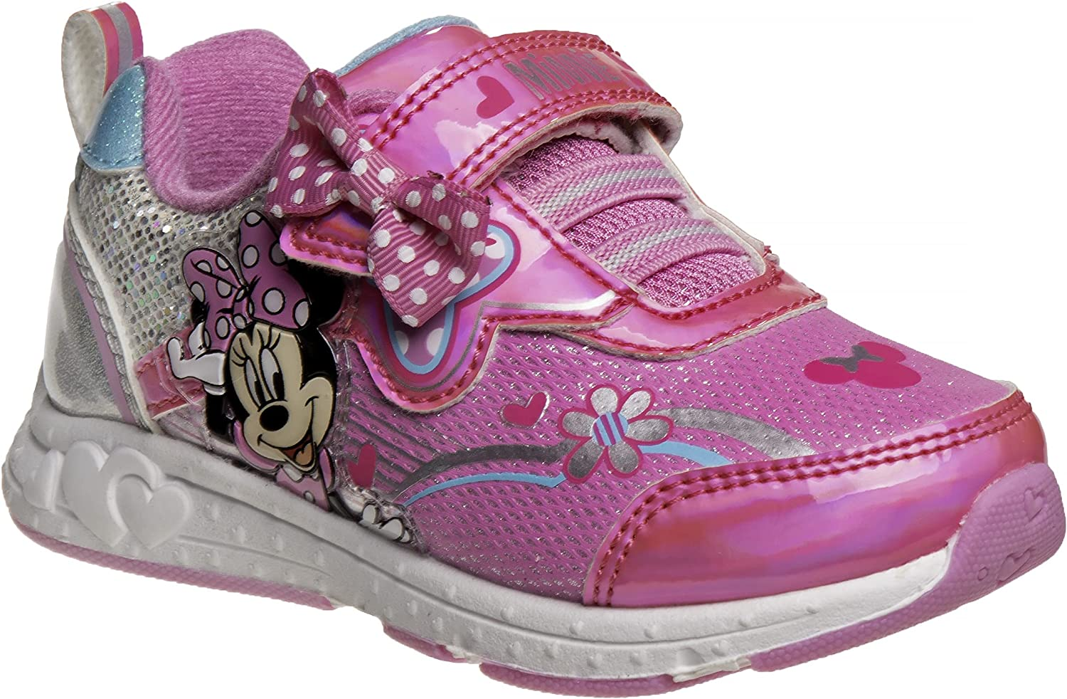Disney Minnie Mouse Girls Shoes | Lightweight Sneakers | Toddler and Little Kid Casual Running Shoes