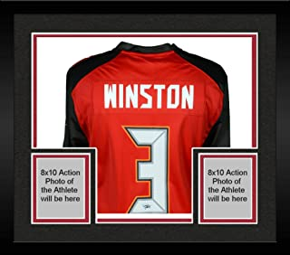 Framed Jameis Winston Tampa Bay Buccaneers Autographed Red Nike Game Jersey - Fanatics Authentic Certified