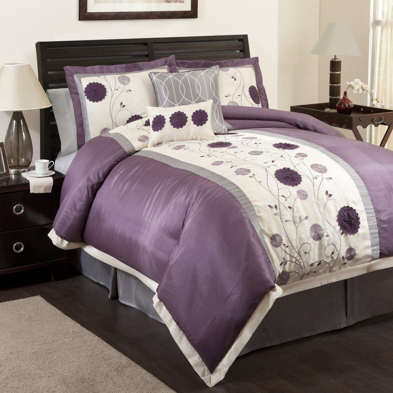 Lush Decor Juliana 6-Piece Comforter California Purpl Set Ranking TOP19 King unisex