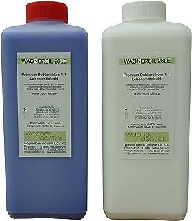 WAGNERSIL 26 Le Premium Silicone Caoutchouc dublier silicone, adapté à la nourriture, (2 x 1 kg) 2 kg
