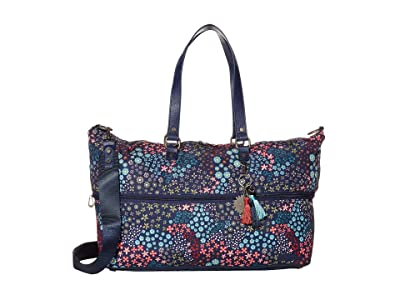 Sakroots Artist Circle Travel Duffel (Navy Floral Spirit) Carry on Luggage