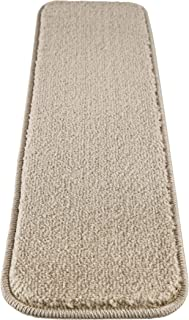 Mod-Arte | Solo Collection | Stair Treads | Modern &Contemporary | Solid Colors | Rubber Backing Non-Slip | Beige | Set of 7 | 8.5
