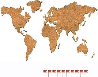Cartina Mondo In Sughero.Amazon It Mappamondo Sughero