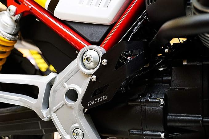 Mytech Bremspumpenschutz Schutz Für Bremspumpe Hinten Aus Eloxiertem Hochfestem Aluminium Motoguzzi V85tt Rot Auto