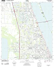 Florida Maps - 2012 Eau Gallie, FL USGS Historical Topographic Map - Cartography Wall Art - 44in x 55in