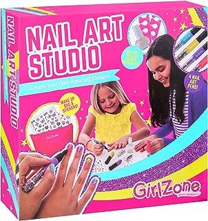 GirlZone: Nail Art Studio Set, Great Gift for Girls