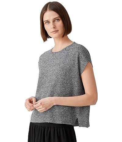Eileen Fisher Crew Neck Box Top in Organic Linen Cotton Twist